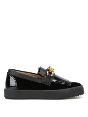 Giuseppe Zanotti: trainers - May London slip-ons with gold chain