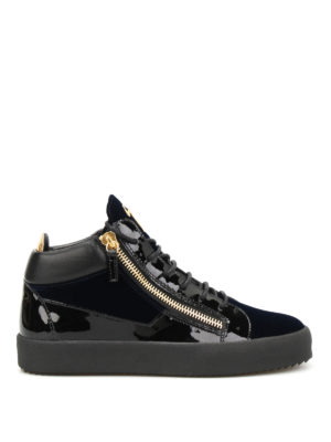 Giuseppe Zanotti: trainers - May London velvet high top sneakers