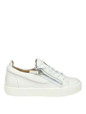 GIUSEPPE ZANOTTI: sneakers - Sneaker May bianche in pelle