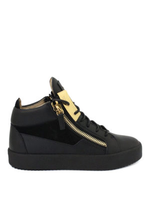 Giuseppe Zanotti: trainers - Mid-top leather and suede sneakers