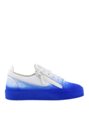 GIUSEPPE ZANOTTI: sneakers - Sneaker New Unfinished blu