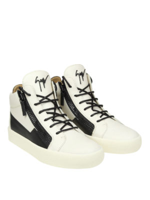 Giuseppe Zanotti: trainers online - Bicolour leather high-top sneakers