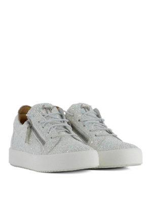 Giuseppe Zanotti: trainers online - Cheryl Glitter fabric sneakers