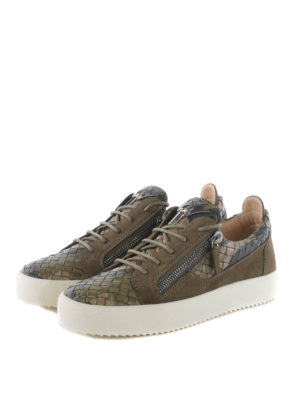 Giuseppe Zanotti: trainers online - Clay Low woven leather sneakers