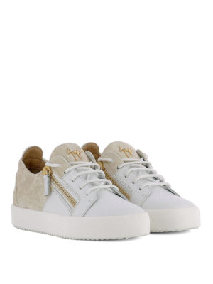 Giuseppe Zanotti: trainers online - Double leather and velvet sneakers
