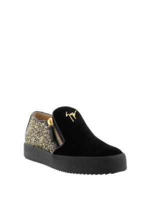 Giuseppe Zanotti: trainers online - Eve suede and glitter sneakers