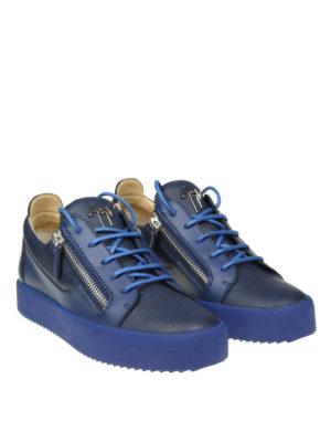Giuseppe Zanotti: trainers online - Frankie blue leather sneakers