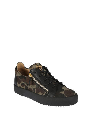Giuseppe Zanotti: trainers online - Frankie camo low-top sneakers