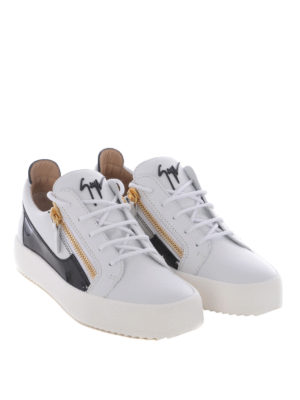 Giuseppe Zanotti: trainers online - Frankie leather and patent sneakers