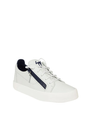 Giuseppe Zanotti: trainers online - Frankie white low-top sneakers