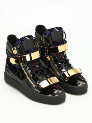 Giuseppe Zanotti: trainers online - Hi-top embroidered sneakers