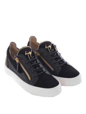 Giuseppe Zanotti: trainers online - Kirk Low zip details black sneakers