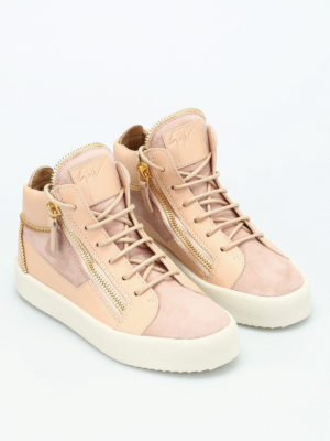 Giuseppe Zanotti: trainers online - Leather and suede mid-top sneakers