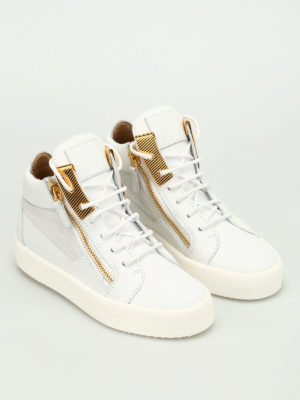 Giuseppe Zanotti: trainers online - Leather mid-top sneaker