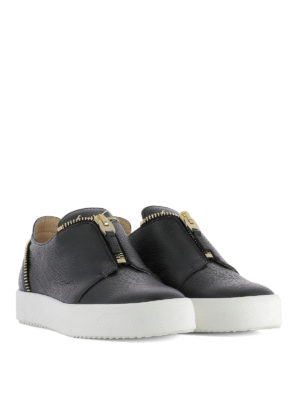 Giuseppe Zanotti: trainers online - Leather zip detail sneakers
