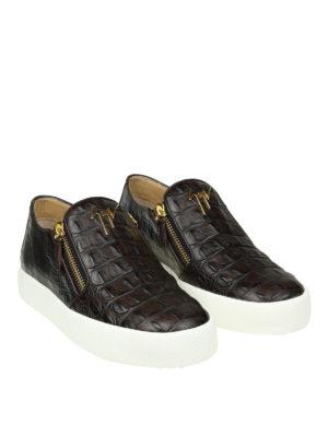 Giuseppe Zanotti: trainers online - May London croco print slip-ons