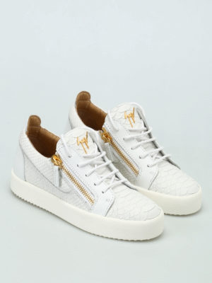 Giuseppe Zanotti: trainers online - May London printed leather sneakers