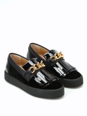 Giuseppe Zanotti: trainers online - May London slip-ons with gold chain
