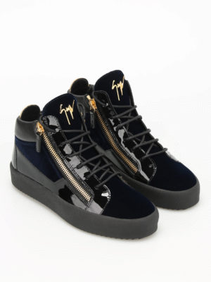 Giuseppe Zanotti: trainers online - May London velvet high top sneakers