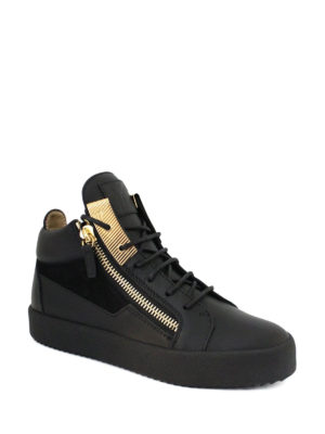 Giuseppe Zanotti: trainers online - Mid-top leather and suede sneakers