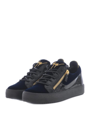 Giuseppe Zanotti: trainers online - Patent leather and velvet sneakers