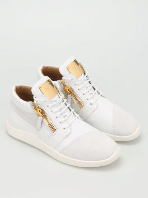 Giuseppe Zanotti: trainers online - Singleg leather and suede sneakers