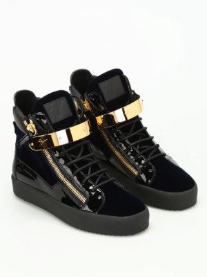 Giuseppe Zanotti: trainers online - Velvet hi-top sneakers