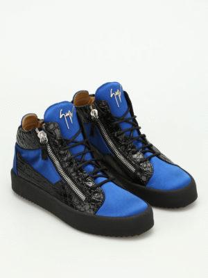 Giuseppe Zanotti: trainers online - Velvet mid-top sneakers