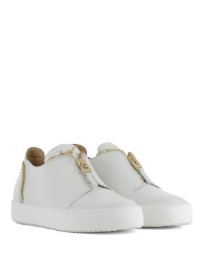Giuseppe Zanotti: trainers online - Zip detailed leather sneakers