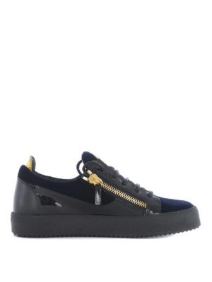 Giuseppe Zanotti: trainers - Patent leather and velvet sneakers