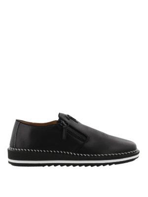 GIUSEPPE ZANOTTI: sneakers - Sneaker slip on Ron in nappa