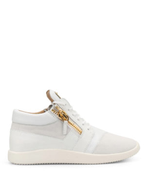 Giuseppe Zanotti: trainers - Singleg leather and suede sneakers