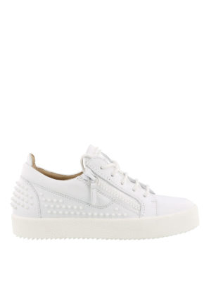 Giuseppe Zanotti: trainers - Studded leather sneakers