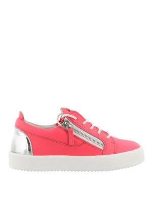 GIUSEPPE ZANOTTI: sneakers - Sneaker in pelle bicolore