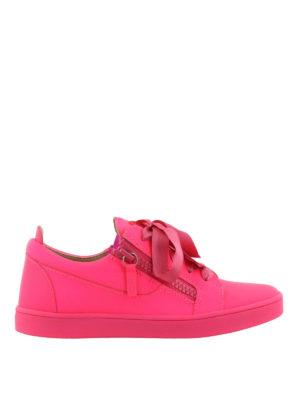 GIUSEPPE ZANOTTI: sneakers - Sneaker fucsia Unfinished in pelle