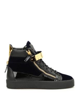 Giuseppe Zanotti: trainers - Velvet hi-top sneakers
