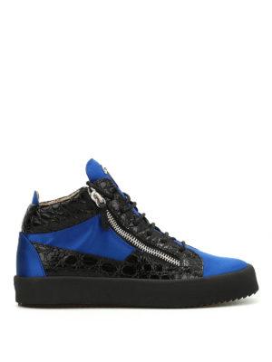 Giuseppe Zanotti: trainers - Velvet mid-top sneakers