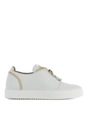 Giuseppe Zanotti: trainers - Zip detailed leather sneakers