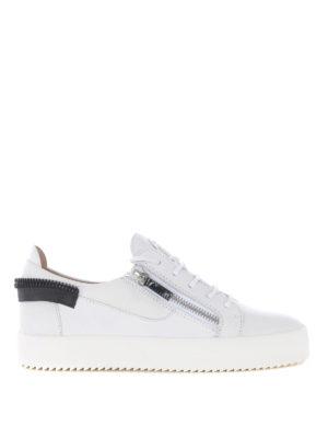5912cc4ac002c4 GIUSEPPE ZANOTTI: sneakers - Sneaker in pelle bianca con dettaglio zip