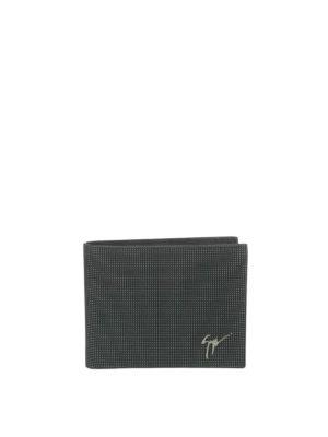 Giuseppe Zanotti: wallets & purses - Monty studded leather wallet