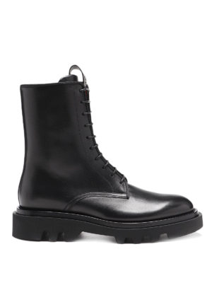 GIVENCHY: ankle boots - Lace-up leather combat boots