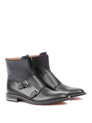 Givenchy: ankle boots online - Chain detail leather ankle boots