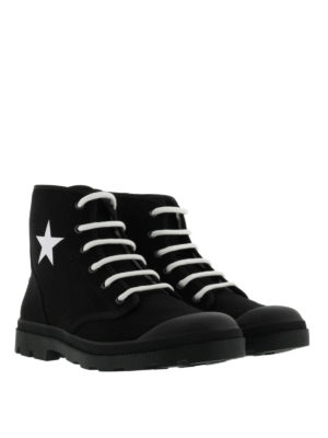 Givenchy: ankle boots online - Laced-up scuba ankle boots