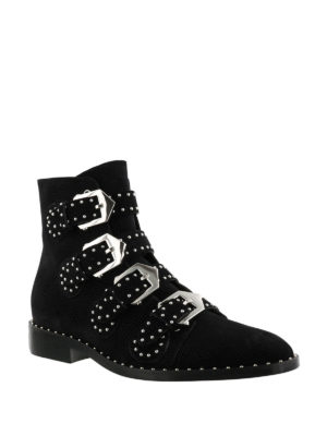 Givenchy: ankle boots online - Studded suede ankle boots