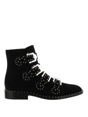 Givenchy: ankle boots - Studded suede ankle boots
