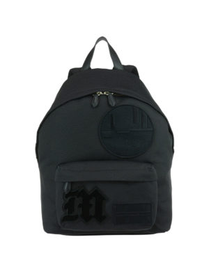 Givenchy: backpacks - Black nylon backpack with patches
