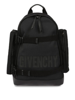 Givenchy: backpacks - Clasp straps logo backpack
