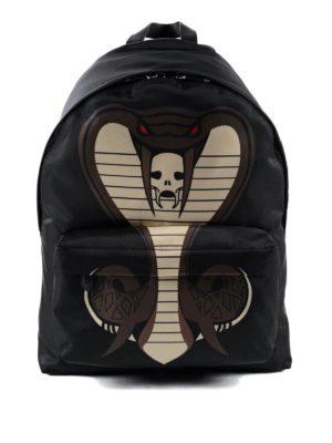 Givenchy: backpacks - Cobra printed backpack