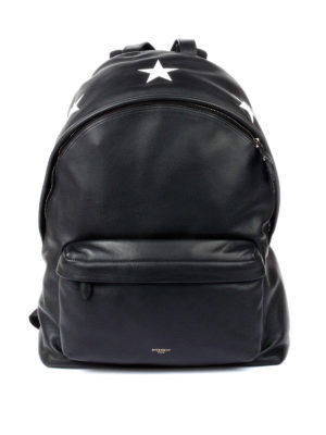 Givenchy: backpacks - Contrasting star leather backpack
