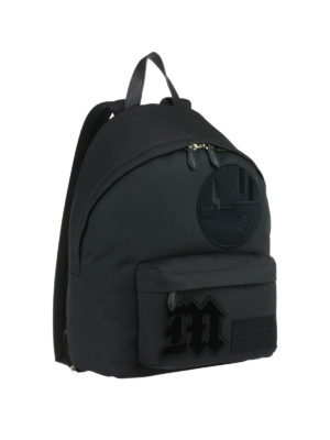 Givenchy: backpacks online - Black nylon backpack with patches
